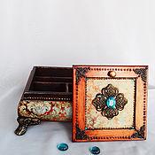 Для дома и интерьера ручной работы. Ярмарка Мастеров - ручная работа Шкатулка Фирузэ. Handmade.