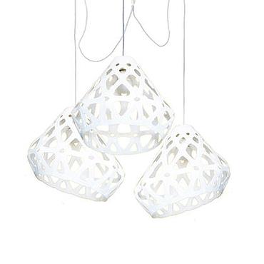 Для дома и интерьера ручной работы. Ярмарка Мастеров - ручная работа ZAHA LIGHT белая трехрожковая люстра. Handmade.