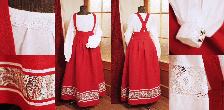 Сарафан рубаха юбки