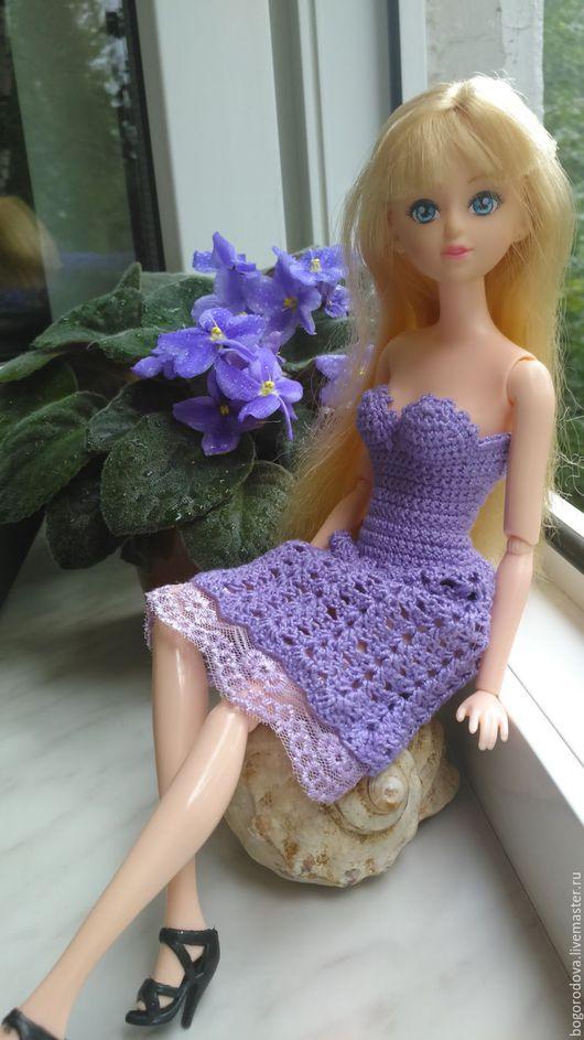Одежда для кукол ручной работы. Ярмарка Мастеров - ручная работа. Купить Одежда для кукол, Вязаное платье для кукол Барби 1. Handmade.