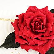 Украшения handmade. Livemaster - original item brooch made of leather. Rose