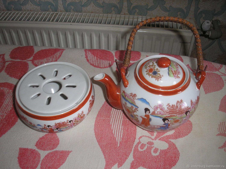 Винтаж: Чайник с грелкой шинуазри, Чайники винтажные, Евпатория,  Фото №1