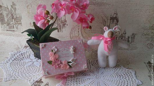 """Подарки для новорожденных, ручной работы. Ярмарка Мастеров - ручная работа. Купить Мамины сокровища """"Нежный горошек"""". Handmade. Розовый"""