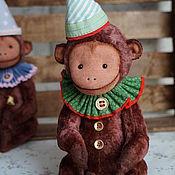 Куклы и игрушки ручной работы. Ярмарка Мастеров - ручная работа Обезьянка плюшевая коллекционная. Handmade.