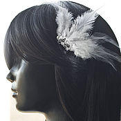 Свадебный салон handmade. Livemaster - original item Comb with feathers