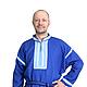 Одежда ручной работы. Ярмарка Мастеров - ручная работа. Купить Рубаха народная славянская мужская (синий лен). Handmade. Синий