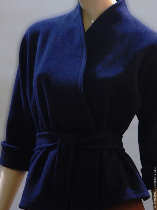 Пиджаки, жакеты ручной работы. Ярмарка Мастеров - ручная работа. Купить жакет Кимоно. Handmade. Тёмно-синий, одежда для отдыха