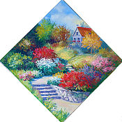 Картины и панно handmade. Livemaster - original item The picture flower garden