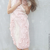 """Одежда ручной работы. Ярмарка Мастеров - ручная работа Платье """"Розовая пыль"""". Нунофелтинг. Handmade."""