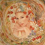 Картины и панно ручной работы. Ярмарка Мастеров - ручная работа портрет на заказ в кружении Ваших любимых цветов. Handmade.