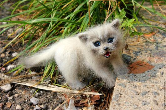 Игрушки животные, ручной работы. Ярмарка Мастеров - ручная работа. Купить маленький котёночек. Handmade. Невская маскарадная кошка, кот
