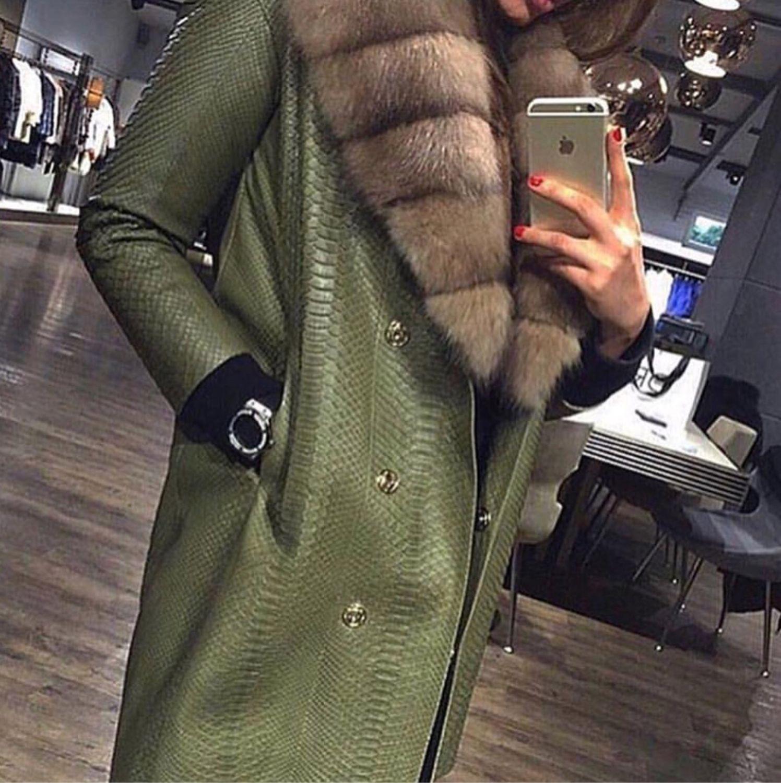 Пальто из питона, Пальто, Москва,  Фото №1