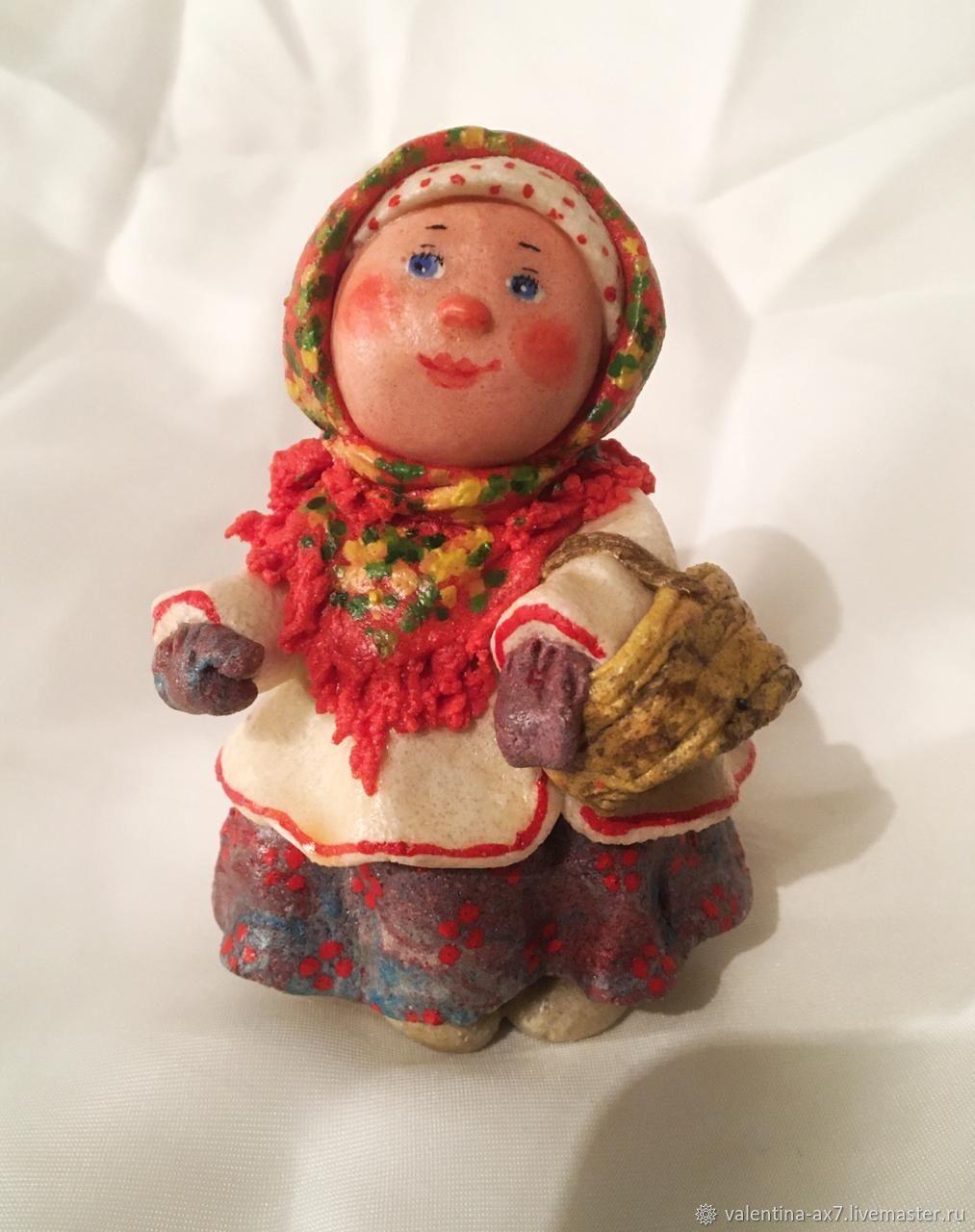 За грибами, Народная кукла, Москва,  Фото №1