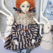 Куклы и игрушки ручной работы. Ярмарка Мастеров - ручная работа Подвижная будуарная кукла Дениза. Handmade.