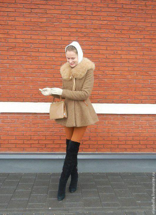 """Верхняя одежда ручной работы. Ярмарка Мастеров - ручная работа. Купить Миниатюрное пальто """"Нежный трюфель"""", зима. Handmade. Коричневый"""
