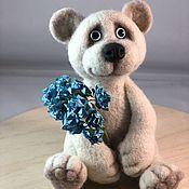 handmade. Livemaster - original item felt toy: White bear. Handmade.