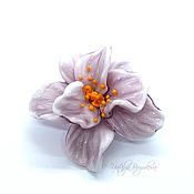handmade. Livemaster - original item Flower bead lampwork violet. Handmade.