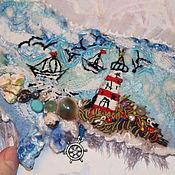 Украшения ручной работы. Ярмарка Мастеров - ручная работа Валяный морской браслет. Handmade.