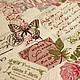 Шитье ручной работы. Ярмарка Мастеров - ручная работа. Купить Лен с хлопком Винтажные розы и бабочки. Для пэчворка, штор, текстиля. Handmade.
