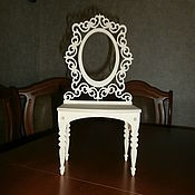 handmade. Livemaster - original item Furniture for dolls: Doll`s boudoir, dressing table 1555. Handmade.