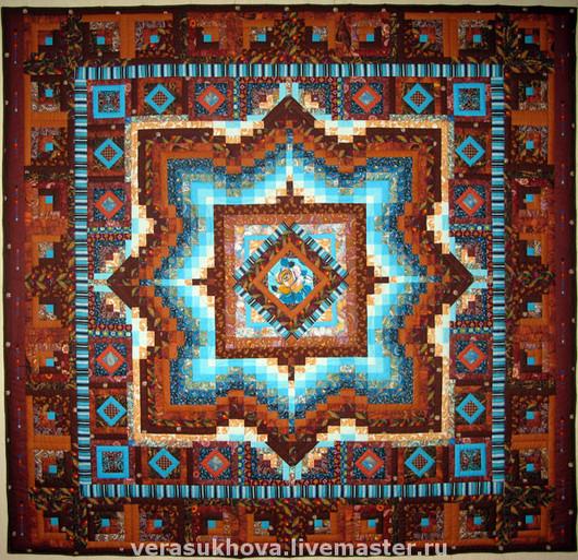 Текстиль, ковры ручной работы. Ярмарка Мастеров - ручная работа. Купить Лоскутное одеяло СВЕТ МОЙ, ЗЕРКАЛЬЦЕ покрывало лоскутное. Handmade.
