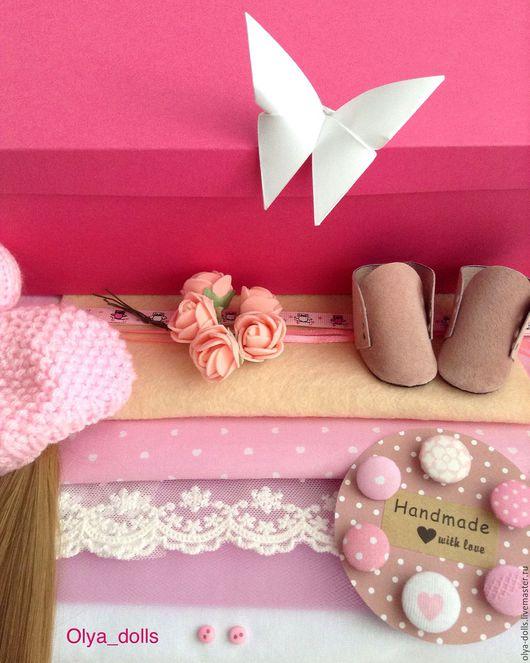 Куклы и игрушки ручной работы. Ярмарка Мастеров - ручная работа. Купить Готовый набор для самостоятельного пошива куколки. Handmade. Розовый