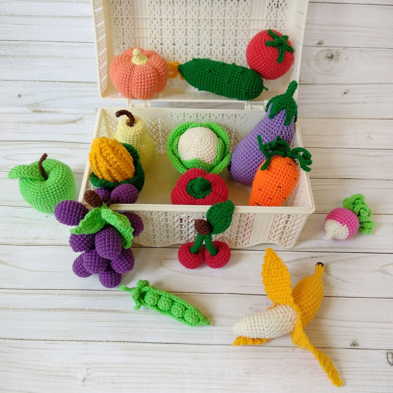 Вязаные фрукты и овощи, Кукольная еда, Воронеж,  Фото №1
