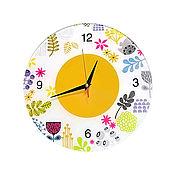 Для дома и интерьера ручной работы. Ярмарка Мастеров - ручная работа Настенные часы в детскую. Коллаж, детские часы.. Handmade.