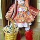 Коллекционные куклы ручной работы. Интерьерная текстильная кукла.. оксана смирнова (dollfabric). Ярмарка Мастеров. Текстильная кукла, лён, трессы