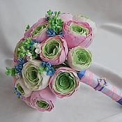 Свадебный салон ручной работы. Ярмарка Мастеров - ручная работа Букет невесты с розовыми ранункулюсами. Handmade.