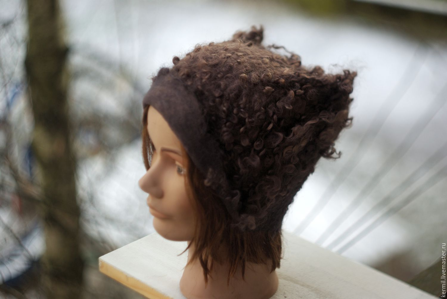 Felted hat 'Chocolate soft', Caps, St. Petersburg,  Фото №1