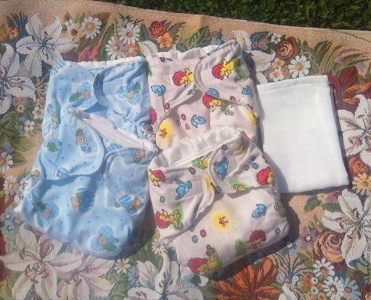 """Для будущих и молодых мам ручной работы. Ярмарка Мастеров - ручная работа. Купить Многоразовые подгузники для малышей """"Берегите нашу планету!"""". Handmade."""