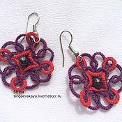 Украшения handmade. Livemaster - original item Lace earrings tatting Celtic. Handmade.