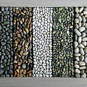 Ковры ручной работы. Ярмарка Мастеров - ручная работа Массажный коврик из гальки, змеевика и мраморной крошки. Handmade.