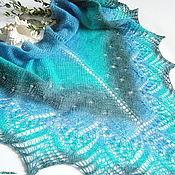 Аксессуары handmade. Livemaster - original item The sea, the sea... the County of openwork Shawl knitting. Handmade.