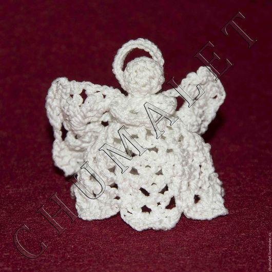 Персональные подарки ручной работы. Ярмарка Мастеров - ручная работа. Купить Ангел. Handmade. Белый, ангел-храитель, вязанный