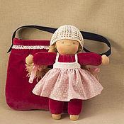 Куклы и игрушки ручной работы. Ярмарка Мастеров - ручная работа Кукла в сумке, 31 см. Handmade.
