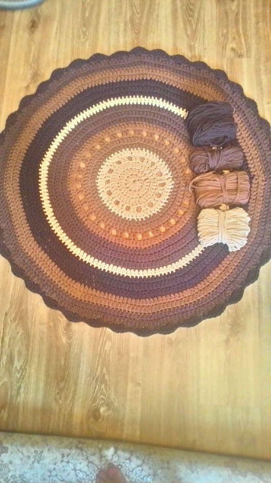 Текстиль, ковры ручной работы. Ярмарка Мастеров - ручная работа. Купить Ковер шоколад. Handmade. Ковер, ковер из трикотажной пряжи
