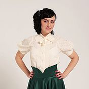 Одежда handmade. Livemaster - original item Blouse of Batiste in a retro style