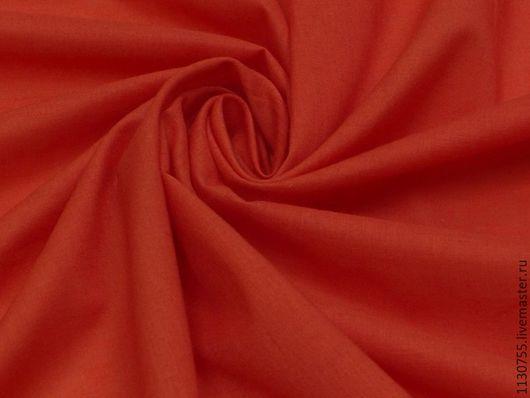 Шитье ручной работы. Ярмарка Мастеров - ручная работа. Купить Ткань   хлопок батист красный. Handmade. Батист, ткани, ткань