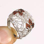 """Украшения ручной работы. Ярмарка Мастеров - ручная работа кольцо """"Сотканное нежностью"""" из серебра 925 пробы. Handmade."""