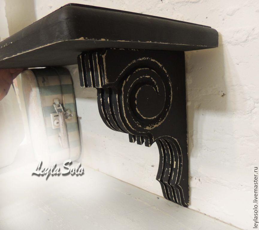 Полка консольная с резьбой Чёрный шик, Полки, Таганрог,  Фото №1