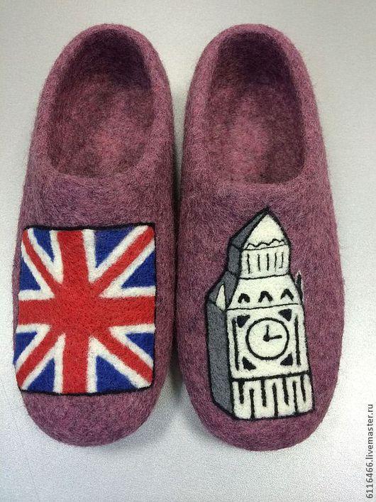Обувь ручной работы. Ярмарка Мастеров - ручная работа. Купить домашние валяные тапочки из натуральной шерсти Великая Британия. Handmade.