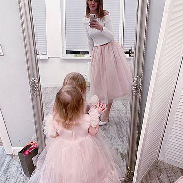 Одежда ручной работы. Ярмарка Мастеров - ручная работа Family look (платье и Юбка из фатина). Handmade.
