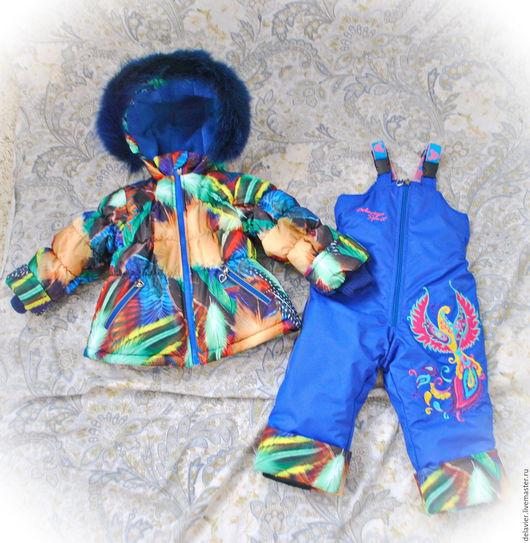 """Одежда для девочек, ручной работы. Ярмарка Мастеров - ручная работа. Купить Зимний/демисезонный мембранный комплект """"Райская птица"""". Handmade. Комбинированный"""