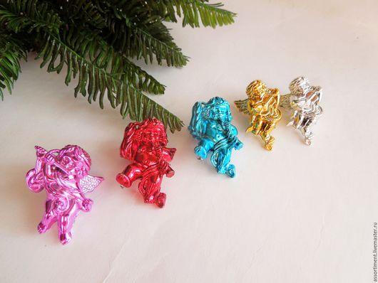 Материалы для флористики ручной работы. Ярмарка Мастеров - ручная работа. Купить Ангелы новогодние 5 шт набор 4,5см. Handmade.
