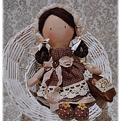 Куклы и игрушки handmade. Livemaster - original item Kopeyka-2, doll, baby, coffee with milk, angel. Handmade.