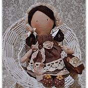 Куклы и игрушки ручной работы. Ярмарка Мастеров - ручная работа КофЕюшка-2, куколка-малышка, кофе с молоком, ангел. Handmade.