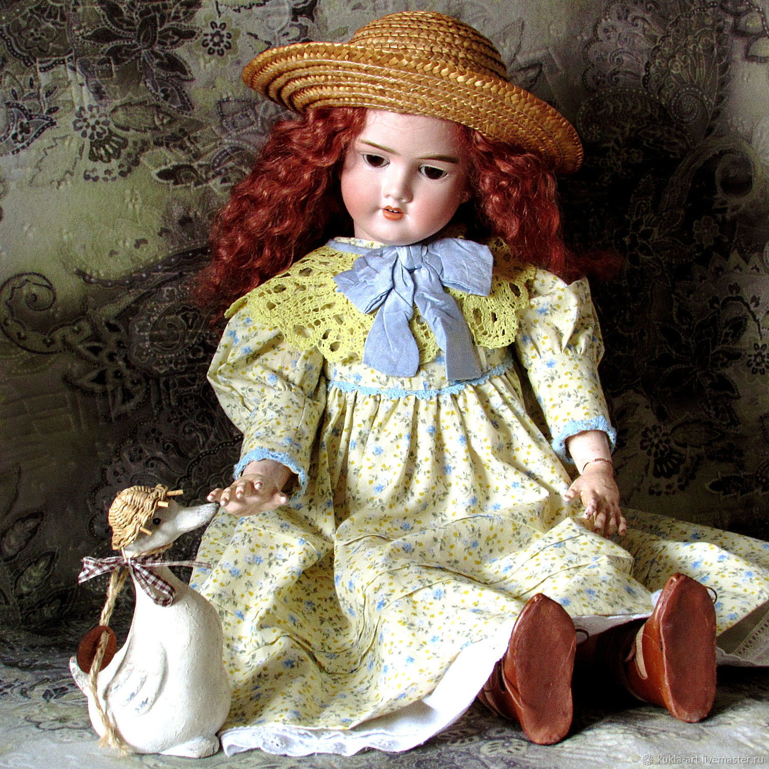 Dress for antique doll ' Mimosa', Clothes for dolls, Monchegorsk,  Фото №1