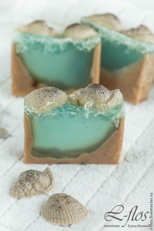Мыло ручной работы `Морское дно` с ароматом морского бриза - 300 руб !!!Не содержит Лаурилсульфат натрия (SLS)!!!